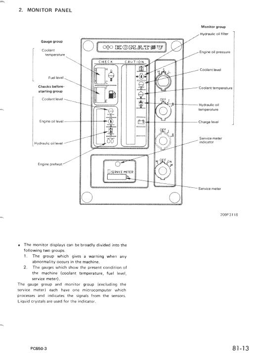 Komatsu Pc650-3, Pc650lc-3, Pc650se-3 Excavator Service Manual