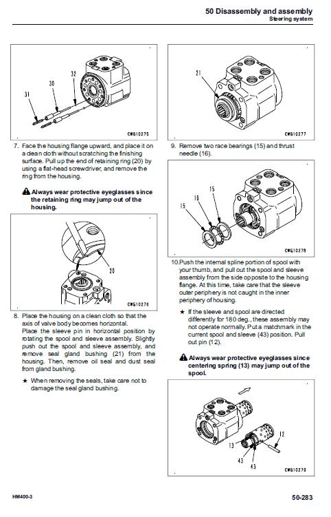 Komatsu Hm400-3 Dump Truck Service Manual