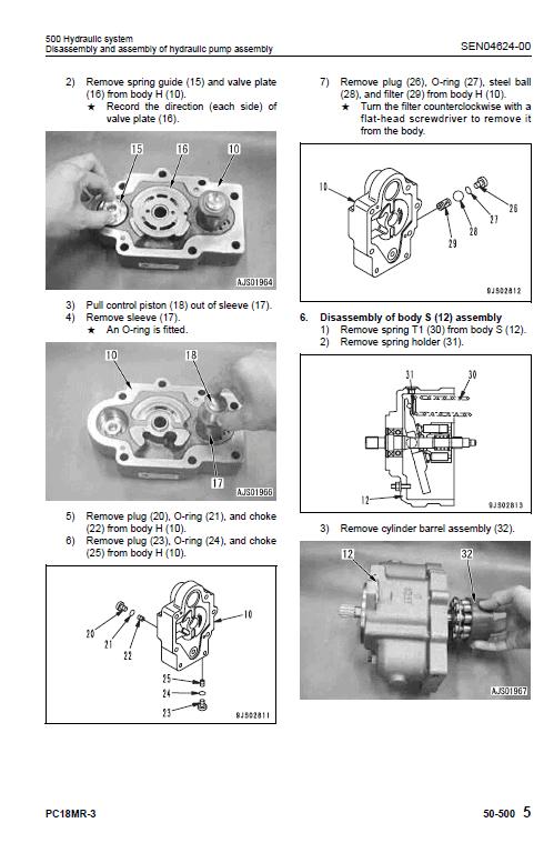 Komatsu Pc18mr-3 Excavator Service Manual