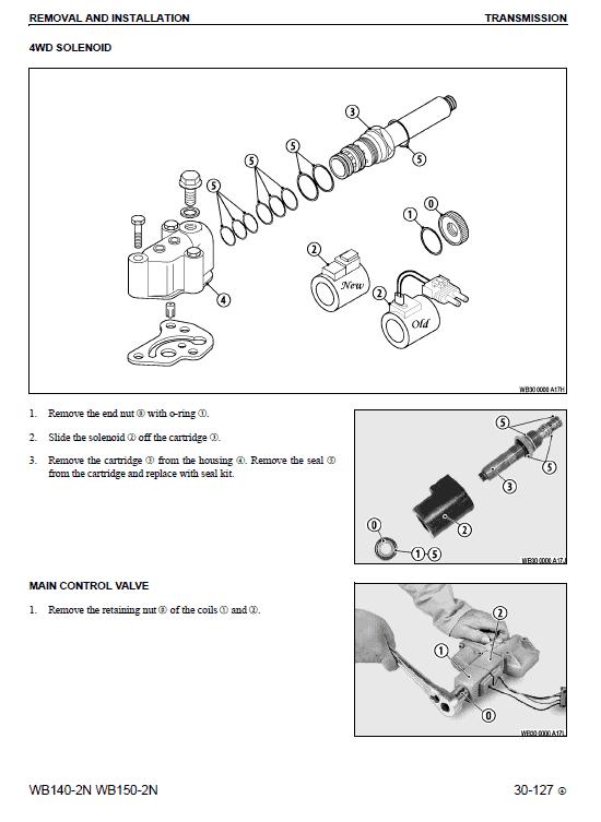 Komatsu Wb140-2n And Wb150-2n Backhoe Loader Service Manual