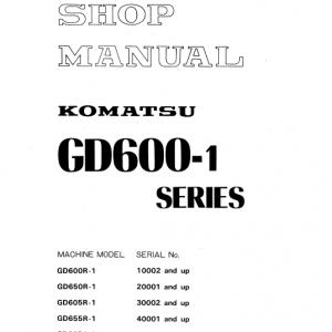 Komatsu Gd600r-1, Gd605r-1, Gd650r-1 Grader Service Manual