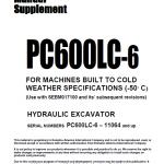 Komatsu Pc600-6, Pc600lc-6 Excavator Service Manual