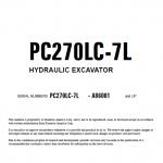 Komatsu Pc270lc-7l Excavator Service Manual