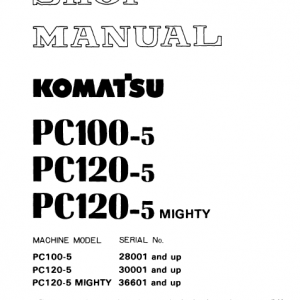 Komatsu Pc100-5 And Pc120-5 Excavator Service Manual
