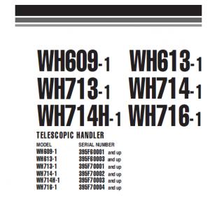 Komatsu Wh714-1, Wh716-1 Telescopic Handler Service Manual