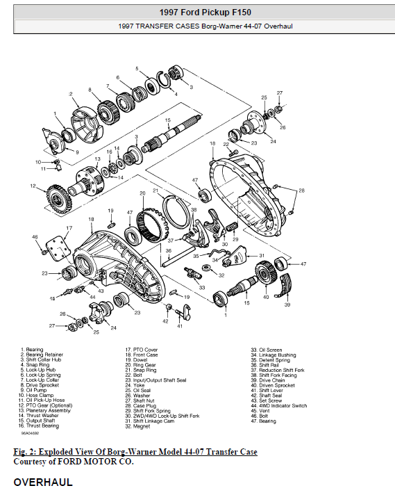 Ford F150 Pickup Repair And Service Manual For Year: 1997 To 2000