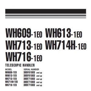 Komatsu Wh609-1, Wh613-1 Telescopic Handler Service Manual