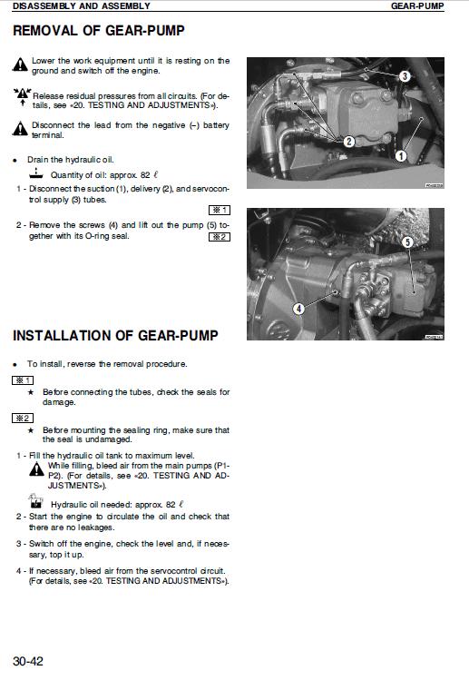 Komatsu Pw95-1 Excavator Service Manual