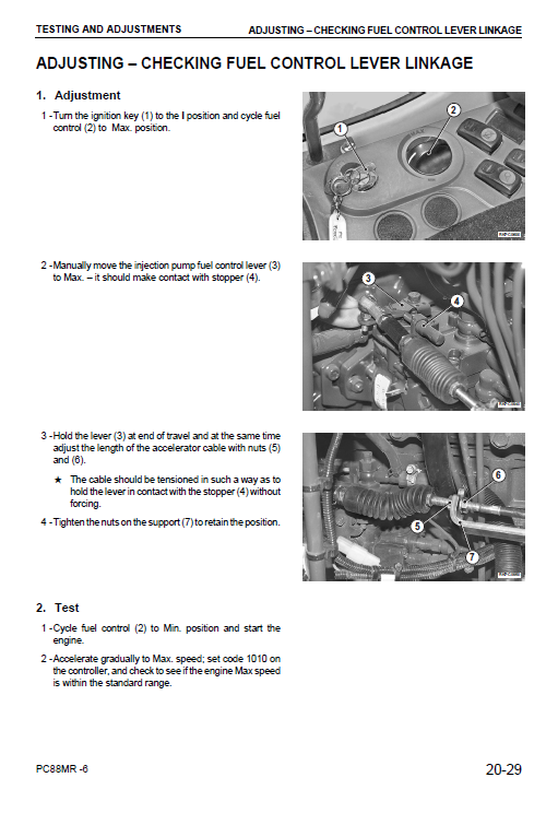 Komatsu Pc88mr-6 Excavator Service Manual