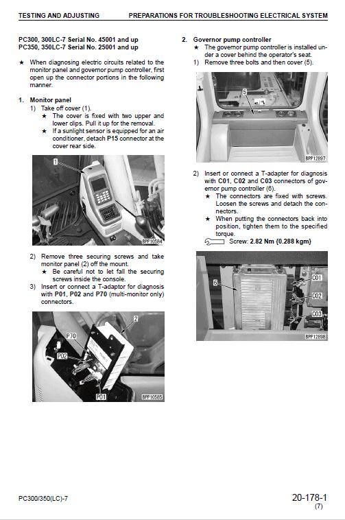Komatsu Pc300-7, Pc300lc-7, Pc350-7, Pc350lc-7 Excavator Service Manual