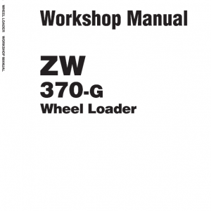Hitachi Zw370, Zw370-g Wheel Loader Service Manual