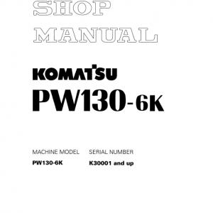 Komatsu Pw130-6k Excavator Service Manual