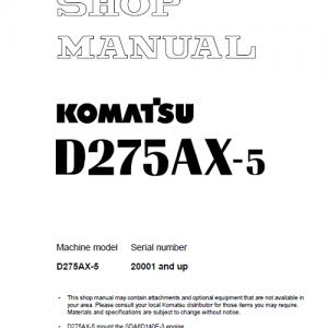 Komatsu D275ax-5, D275ax-5e0 Dozer Service Manual
