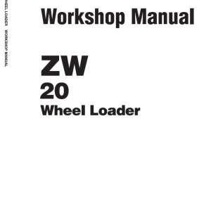 Hitachi Zw20 Wheel Loader Service Manual