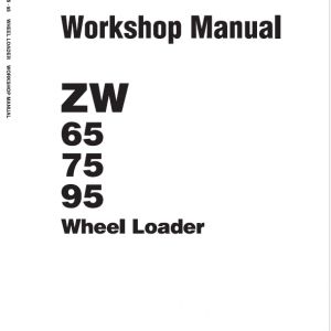Hitachi Zw65, Zw75, Zw95 Wheel Loader Service Manual