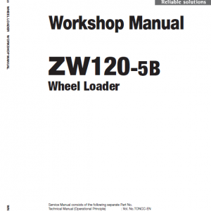 Hitachi Zw120-5b Wheel Loader Service Manual