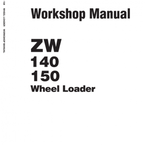 Hitachi Zw140, Zw150 Wheel Loader Service Manual