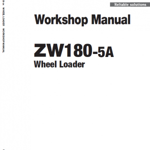 Hitachi Zw180-5a, Zw180-5b Wheel Loader Service Manual