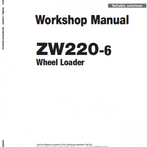 Hitachi Zw220-6 Wheel Loader Service Manual