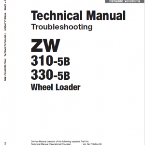 Hitachi Zw310-5a, Zw310-5b Wheel Loader Service Manual
