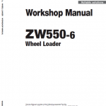 Hitachi Zw550-6 Wheel Loader Service Manual