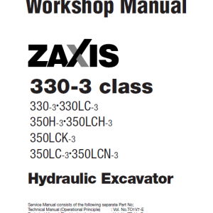 Hitachi Zx350h-3, Zx350lch-3, Zx350lc-3 Excavator Service Manual