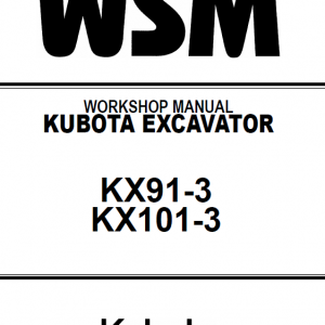 Kubota Kx91-3, Kx101-3 Excavator Workshop Service Manual