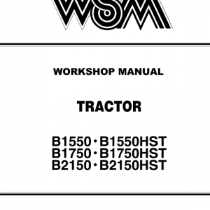 Kubota B1550, B1750, B2150 Tractor Workshop Service Manual