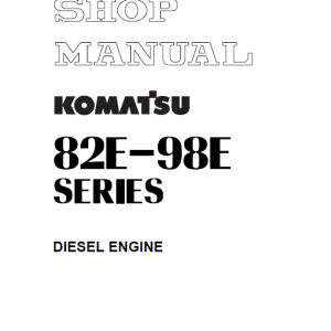 Komatsu 82e, 84e, 88e, 94e, 98e Series Engine Manual