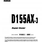 Komatsu D155ax-3 Dozer Service Manual
