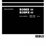Komatsu D39EX-22, D39PX-22, D39PX-22 Dozer Service Manual