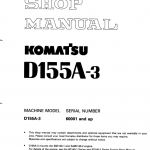 Komatsu D155a-3 Dozer Service Manual