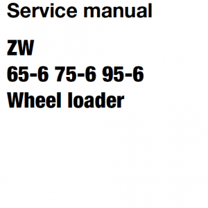 Hitachi Zw65-6 , Zw75-6, Zw95-6 Wheel Loader Service Manual