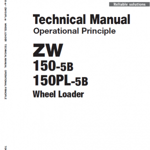 Hitachi Zw150-5b Wheel Loader Service Manual