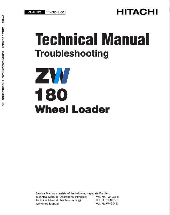 Hitachi Zw180 Wheel Loader Service Manual