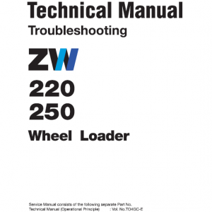Hitachi Zw220, Zw250 Wheel Loader Service Manual