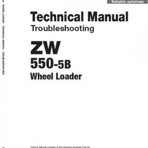 Hitachi Zw550-5b Wheel Loader Service Manual