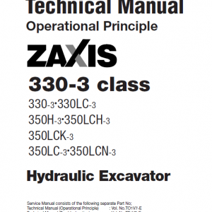 Hitachi Zx330-3, Zx330lc-3 Excavator Service Manual
