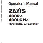 Hitachi Zx400r-3, Zx400lch-3 Excavator Service Manual