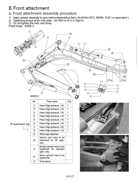 Kubota K008-3, U10-3 Excavator Workshop Service Manual