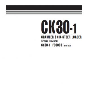 Komatsu Ck30-1 Skid-steer Loader Service Manual