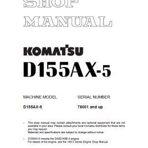 Komatsu D155ax-5 Dozer Service Manual