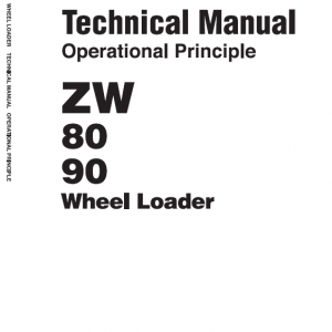 Hitachi Zw80, Zw90 Wheel Loader Service Manual