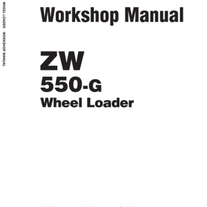 Hitachi Zw550, Zw550-g Wheel Loader Service Manual