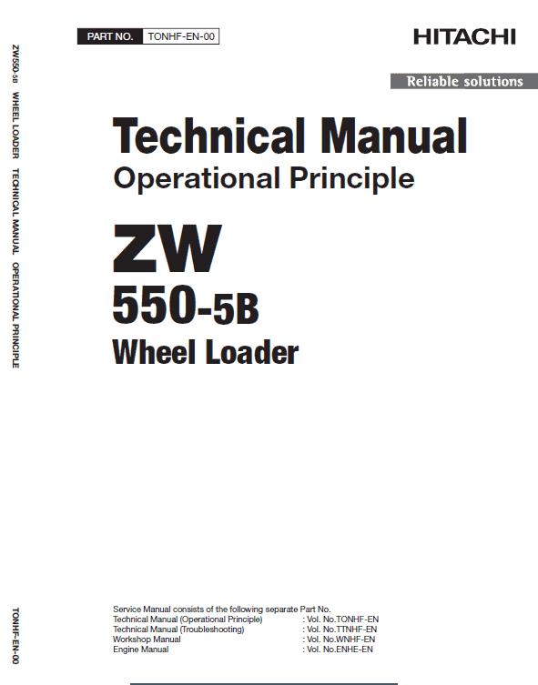 Hitachi Zw550-5b Wheel Loader Service Manual