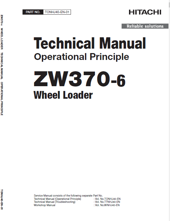Hitachi Zw370-6 Wheel Loader Service Manual