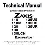 Hitachi Zx110, Zx110m, Zx120, Zx130, Zx130lcn Excavator Service Manual