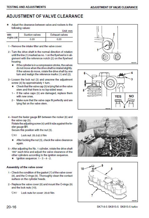 Komatsu Sk714-5, Sk815-5 Skid-steer Loader Service Manual
