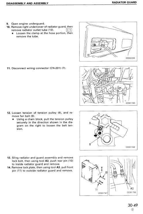 Komatsu D375a-3 Dozer Service Manual