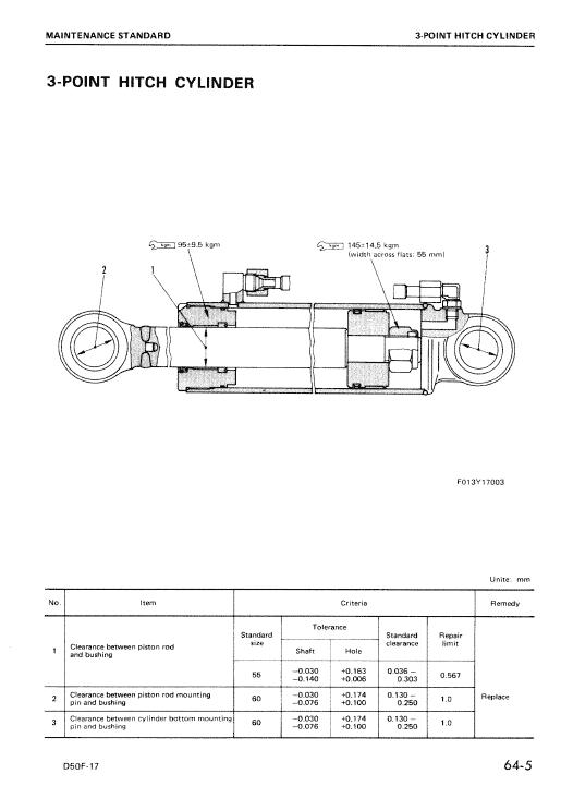 Komatsu D57f-17 Dozer Service Manual